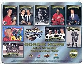 Gordie Howe Autographed Upper Deck Limited Edition 65th Birthday Celebration Tour 8x10 Photo - Autographed NHL Photos