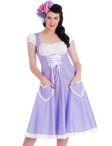 Hell Bunny Lilac Oktober Dress XS - UK 6 / EU 34