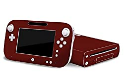 Nintendo Wii U Skin New Bold Burgundy System Skins Faceplate Decal Mod