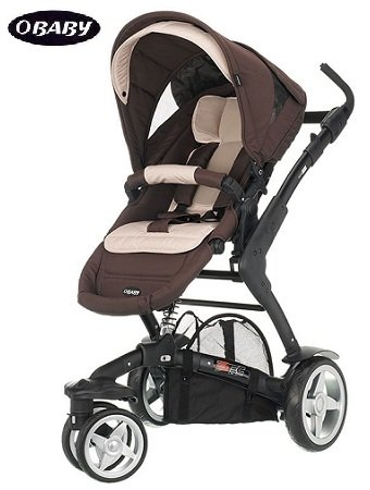 Obaby Zynergi 3Tec Black 3-Wheeler Baby Pushchair
