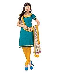 Varanga Sea Green Embroidered Dress Material with Matching Dupatta KF7AKS13016