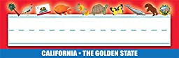 Gallopade Publishing Group California Name Plates - Pack of 36 (9780635100436)