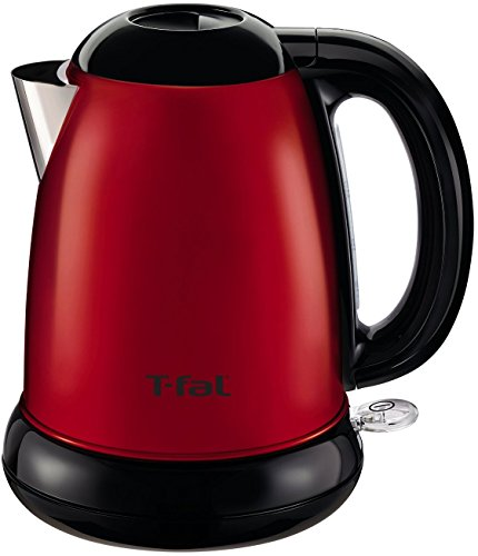 T-fal KI160US 1500-Watt Brushed Stainless Steel Electric Kettle with Removable Limescale, 1.7-Liter, Red (Red Kettle Electric compare prices)