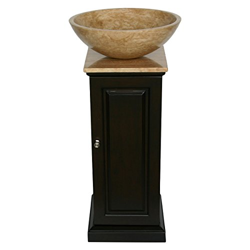 ... Sink Bowl Vessel Bathroom Vanity with Pedestal Cabinet, 12-Inch