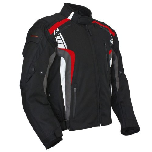 Roleff Racewear 5124 Blouson Moto Lucerne, Noir/Rouge, L