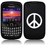Black Peace Silicone Skin Case Cover For Blackberry Curve 8520 9300