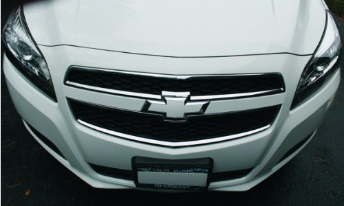 Bowtie Emblem Overlay Decals | Front and Rear - 2013-2015 Chevrolet Malibu - (Color: Hot Pink) (Chevy Impala Front Emblem compare prices)