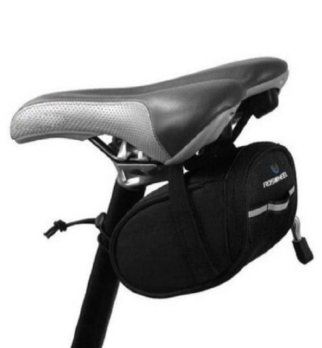 Amcctvshop Durable Outdoor Cycling Saddle Bag Pouch Seat Black (Black)