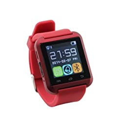 Micomy Bluetooth U8 Smart Watch With Speaker and Notifications Support -Red