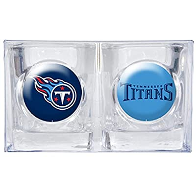 NFL Tennessee Titans 2 oz Square Shot Glass 2pk