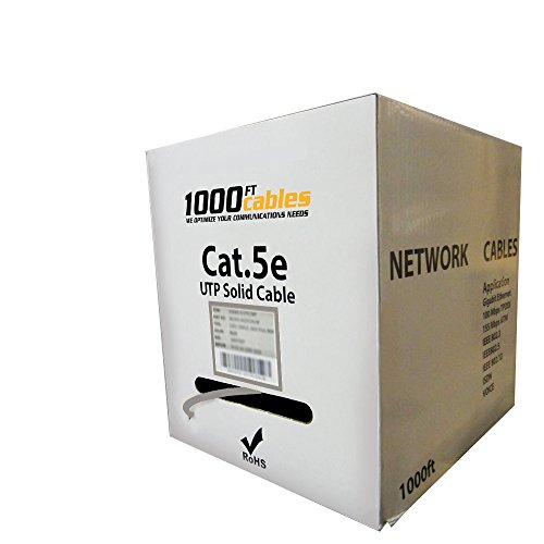 1000FT Bulk Cat5e Plenum CMP UTP Ethernet Cable - West Cables