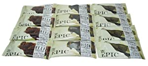 Epic Bar Variety Pack of 12 Turkey Beef Bison Bars