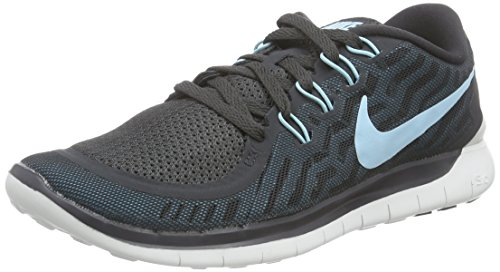 Women's Nike Free 5.0 Running Shoes Anthracite/Black/Blue Lagoon Size 7.5 M US (Nike Shoes Blue compare prices)