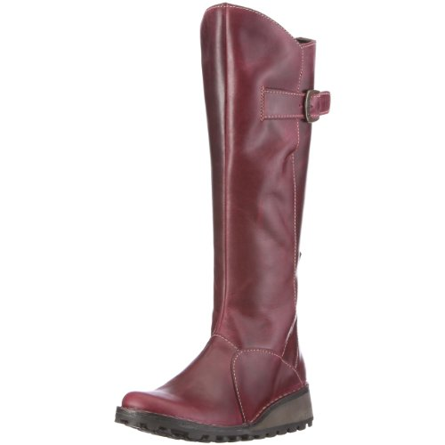 Fly London Women's Mol Leather Boot Purple P210318058 5 UK
