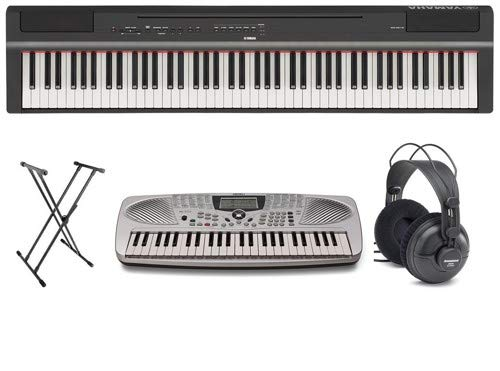 Yamaha P125 Ultimate Piano Player Pack with Portable Keyboard, Headphones, and Stand