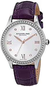 Stuhrling Original Women's 431.02 Vogue Analog Display Swiss Quartz Purple Watch