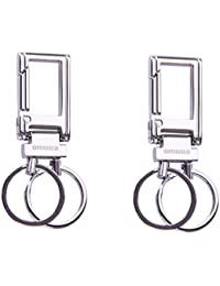 City Choice Omuda 3730 Metal Hook And Locking Key Chain High Quality Keyring ,Combo Of 2 Pcs.
