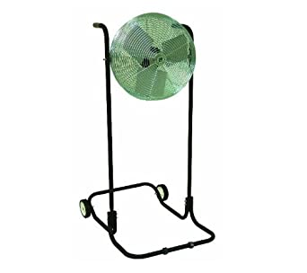 "TPI Corporation F24H-TE Industrial Workstation High Stand Fan, Single Phase, 24"" Diameter, 120 Volt"