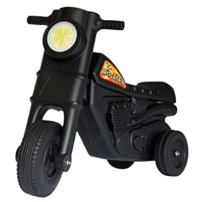 Go-Rider three wheel stable ride on scooter toy (Black)