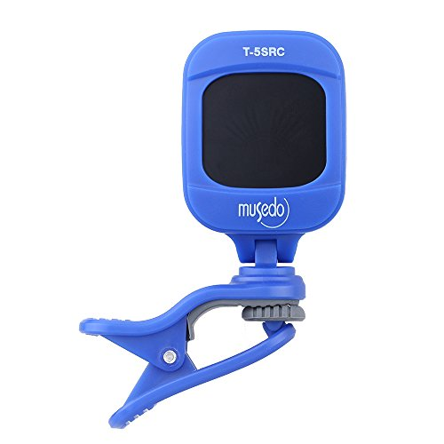 1Pc T-5SRC Portable Mini Electronic Digital Clip-on Tuner for Chromatic Guitar Bass Ukulele Violin Rotatable LCD Screen (Blue) (Tie Dye Whistle compare prices)