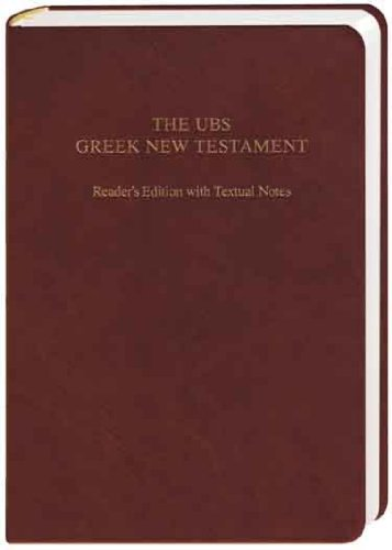 UBS Greek New Testament Reader's Edition With Textual Notes (Greek Edition): Barclay Newman, Florian Voss: 9783438051547: Amazon.com: Books