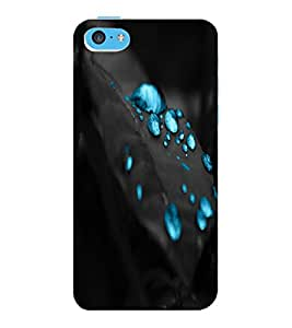 ColourCraft Beautiful Water Drops Design Back Case Cover for APPLE IPHONE 5C