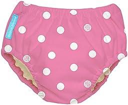 Charlie Banana Extraordinary Training Pants - Big Polka Dots on Baby Pink - Large