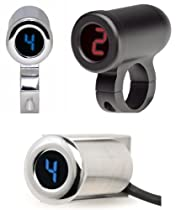 Dakota Digital PGR-1000 Series Programmable Gear Indicator - 1 1/2in. Handlebar Mount - Black/Blue PGR-1150-K