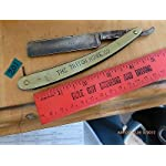 Vintage straight razor barber George W Korn Little Valley NY Tritch Hdwe Co