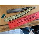 VERY100 Antique Straight Edge Stainless Steel Barber Razor Folding Shaving Knife Marbled