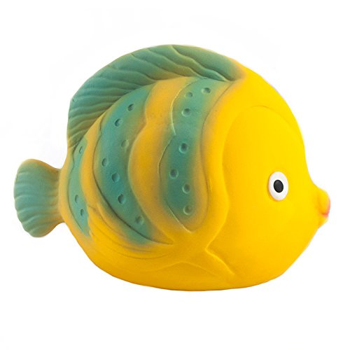 Caaocho rubber sealed bath toy fish the glass baby bottle for Rubber fish toy