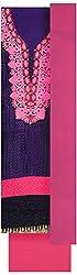 Pal-Pal Women's Banaras Jacquard Dress Material (PAL-PAL-C02, Blue & Pink)