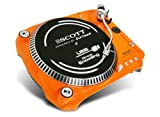 Scott DJX 100 TT Plattenspieler (Phono-Vorverstärker, USB 2.0) orange