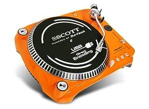 Scott DJX 100 TT Plattenspieler (Phono-Vorverstärker, USB 2.0) orange