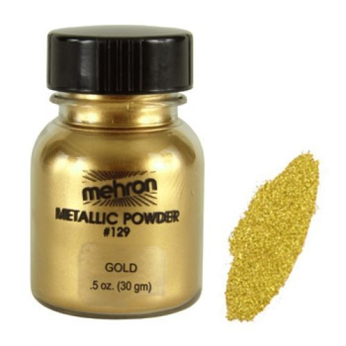 Mehron Metallic Powders - Gold G (1 oz/28 gm) - 1