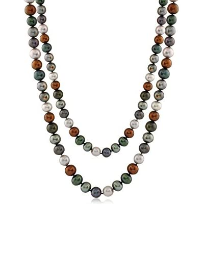 Splendid Pearls Endless 9-10mm Multicolor Freshwater Cultured Pearl Necklace