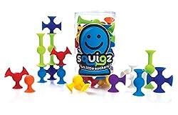 Fat Brain Toys Squigz, Multi Color (24 Pieces)