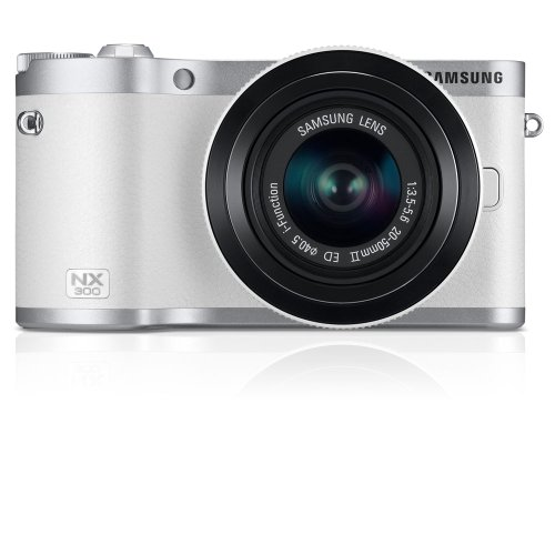 41uwmyqOB6L Samsung NX300 20.3MP CMOS Smart WiFi Compact Interchangeable Lens Digital Camera with 20 50mm Lens and 3.3 AMOLED Touch Screen (White)