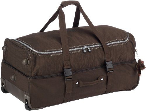 Kipling Women's Teagan Large Wheeled Duffle Expresso Brown