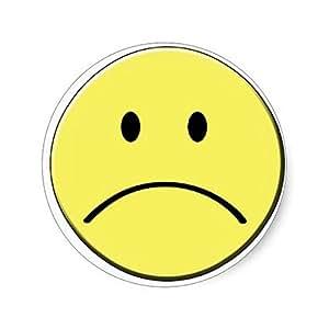 Amazon.com: Sad Face Sticker: Toys & Games