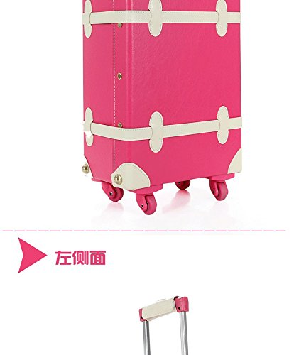 DPIST® Luggage Sets On Sale Vintage & Retro Style Carry-On Trolley Luggage and Cosmetic Tote Bag Set 4