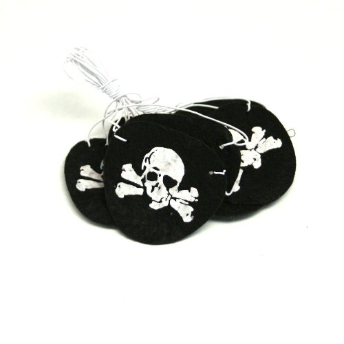 Felt Pirate Eye Patches (1 dz)
