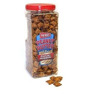 Herr's Peanut Butter Filled Pretzels - 44 oz. jar - CASE PACK OF 2
