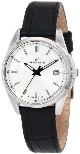Pierre Petit Le Mans P-784A - Reloj analógico de cuarzo para mujer, correa de cuero color negro