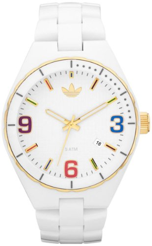 Adidas Unisex Cambridge ADH2693 White Plastic Quartz Watch with White Dial