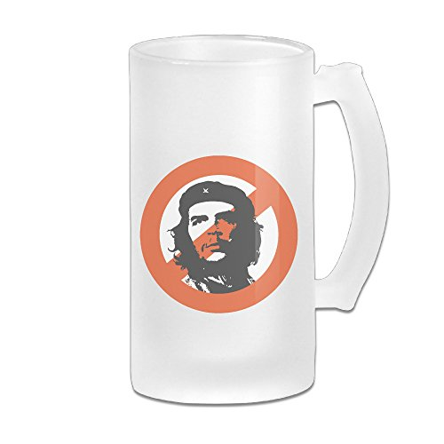 Che Ernesto Guevara Beer Glass Frosted Glass Beer Mugs Beer Glass 16 Oz Great For Coffee, Wine , Beer, Whiskey Or Any Cold Drinks (Presidente Beer Light compare prices)