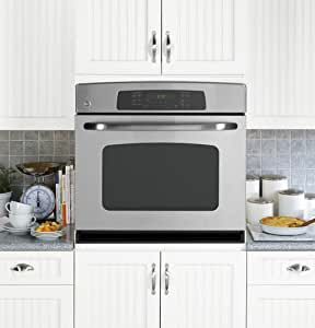 """GE JTP70SPSS 30"""" Stainless Steel Electric Single Wall Oven - Convection"""