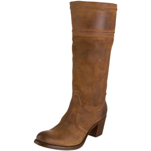 Frye Women's Jane 14L Stitch Brown Boot Leather 77222 4 UK