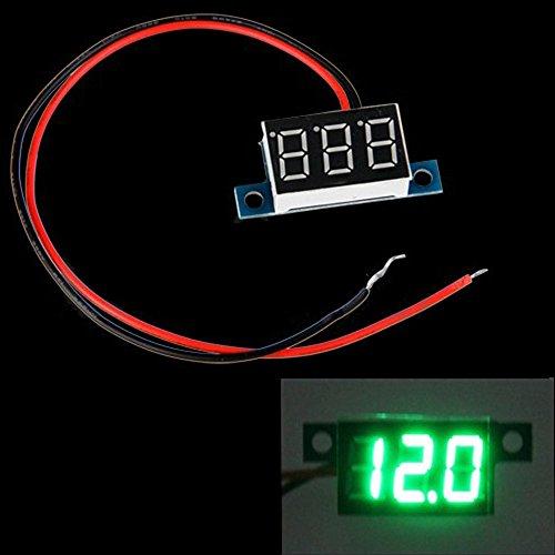 Docooler Mini 2 Wires Dc 3.3-30V Led Panel Digital Display Voltage Meter Voltmeter