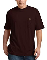 RIGGS WORKWEAR by Wrangler Men's Pocket T-Shirt, Burgundy, Large
